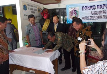 Ceremony of donation to the West Jakarta administration